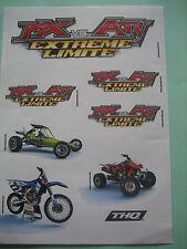 Stickers MX vs ATV Extrême limite 2008 THQ Inc. Rare
