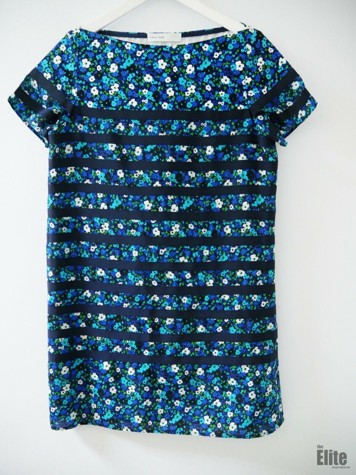 Sacai  Suerte Azul Floral Vestido Talla M. 10623 33M  el mejor servicio post-venta