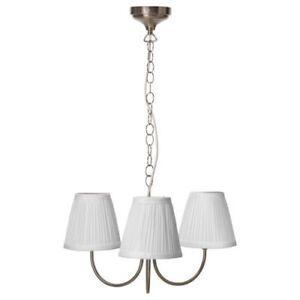 Image Is Loading IKEA ARSTID Ceiling Pendant Lamp 3 Armed Textile