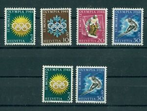 Details about SWITZERLAND, OLYMPIC GAMES 1948, BOTH GUM TYPES, MINT NEVER  HINGED