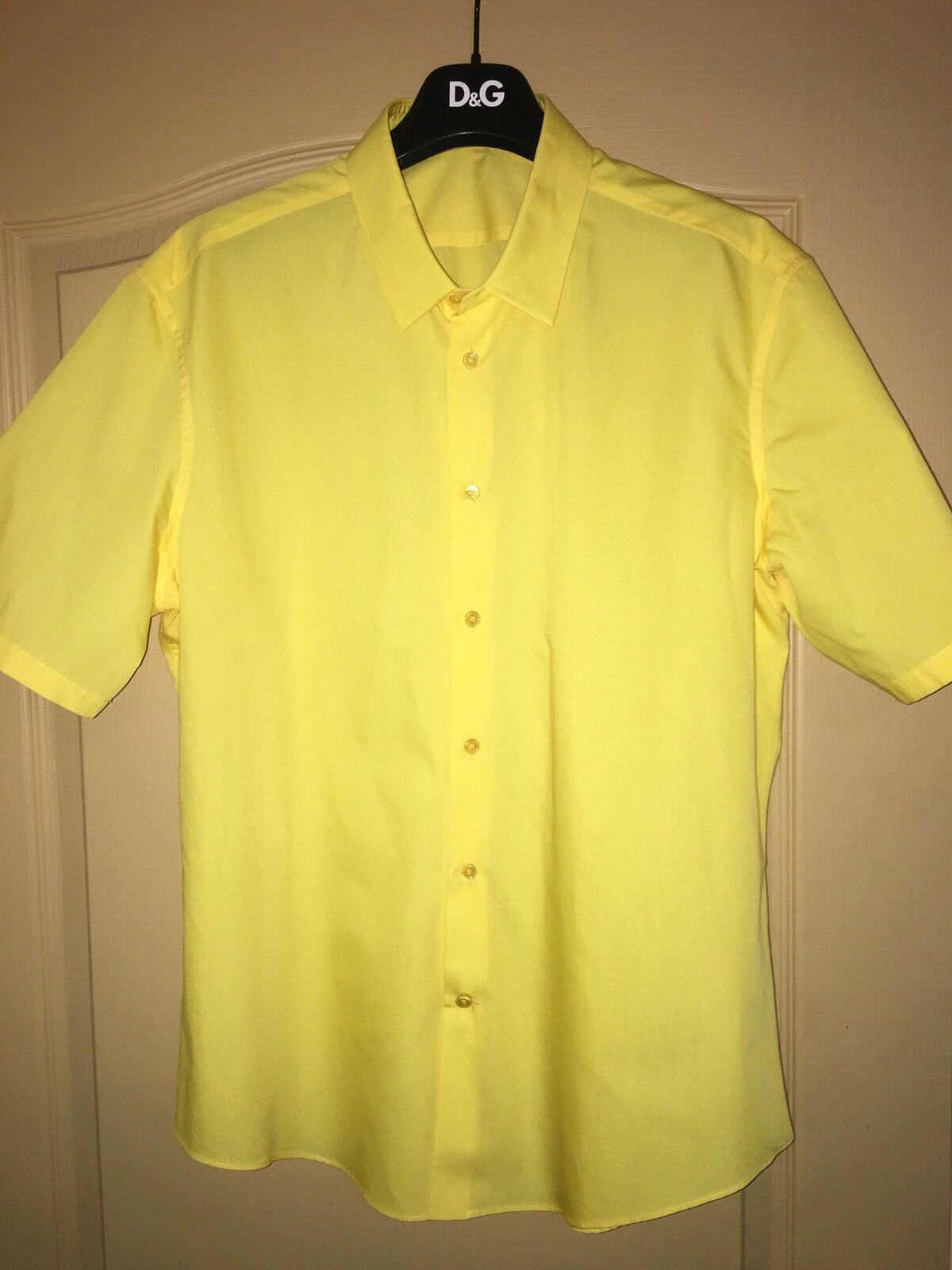 LAST HOURS   Balenciaga Yellow Mens Shirt Size 43 BNWT