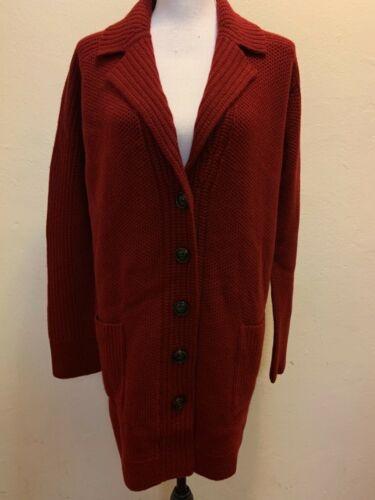 vendita pena a lana ruggine un a in York cardigan in New cashmere comprare lungo 00 color la con dettagli Vale 698 pfqwTx