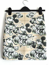 Minnie Mouse Atomic Bomb Mini Skirt - Size 12 14 - Bodycon Wartime 1940s Pin Up