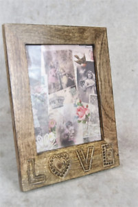 "Photo Photograph Picture Frame Large Indian Hardwood 5 X 7/"" Photo Frame"