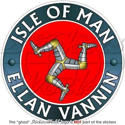 "ISLE of MAN MANX Born /& Proud of it UK 100mm Vinyl Bumper Sticker-Decal 4/"""