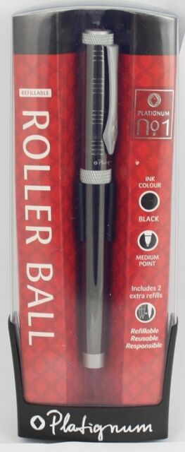 Platignum No 1 Rollerball Pen GUNMETAL New Gift Boxed