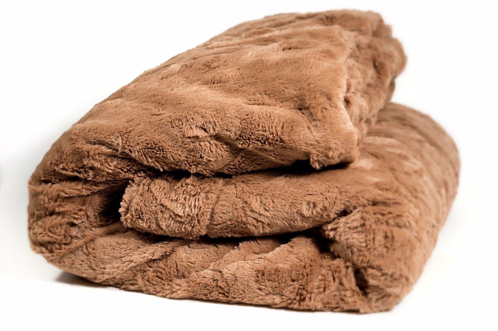 DaDa Bedding Luxury Soft Warm Mocha Brown Faux Sherpa Fleece Throw Blanket 50x60