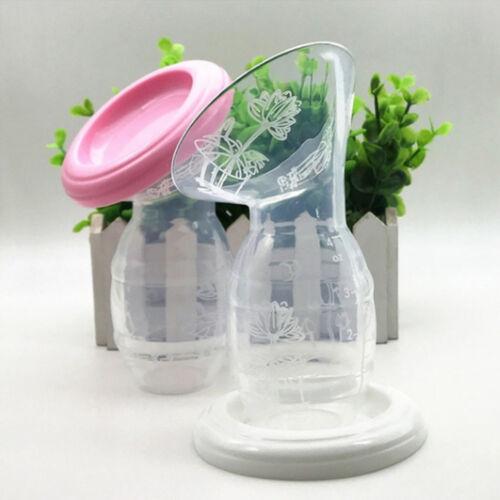 Silicone Mom Breastfeeding Manual Breast Pump Baby Feeding Milk Saver Collector@