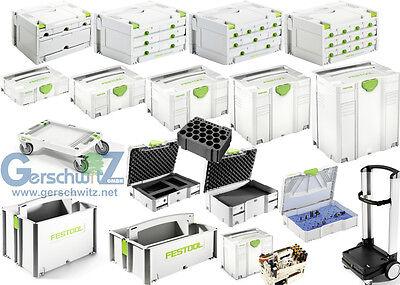 Festool Systainer SYS 1- 2 - 3 - 4 - 5 T Loc Sortainer HWZ Rollbrett VARI