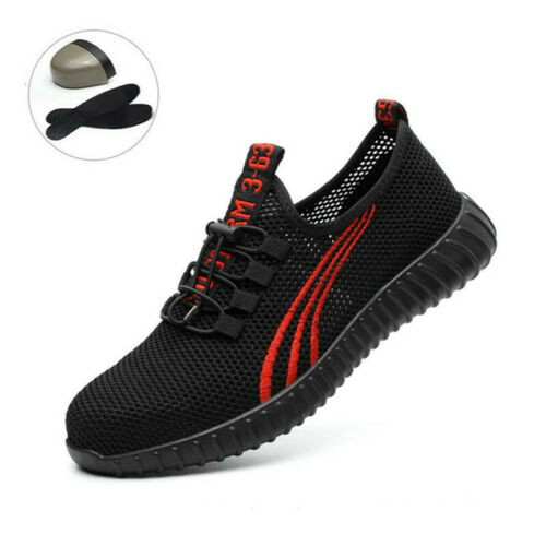 NEW STYLE MENS WOMENS LIGHTWEIGHT STEEL TOE CAP WORK SAFETY SHOES TRAINERS BOOTS