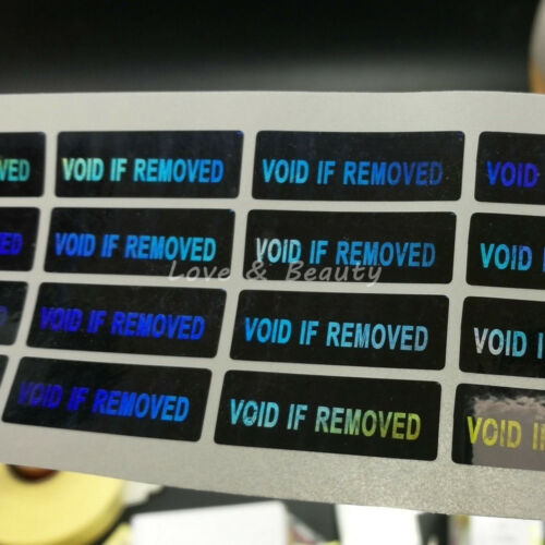 100 Hologram WARRANTY VOID IF REMOVED Tamper Proof Warning Stickers 1.18/'/'*0.39/'