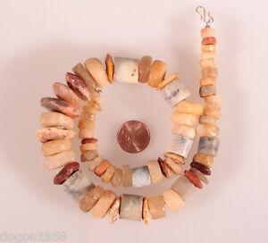 8891-Collier-ancienne-Cornaline-silex-quartz-perles-en-pierre-Sahara-neolithique