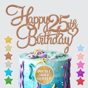 Swell Personalised Happy Birthday Cake Topper Customized Age 13 18 21 25 Funny Birthday Cards Online Benoljebrpdamsfinfo