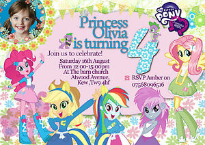Personalized Birthday Invitations My Little Pony Equestria Girl 8