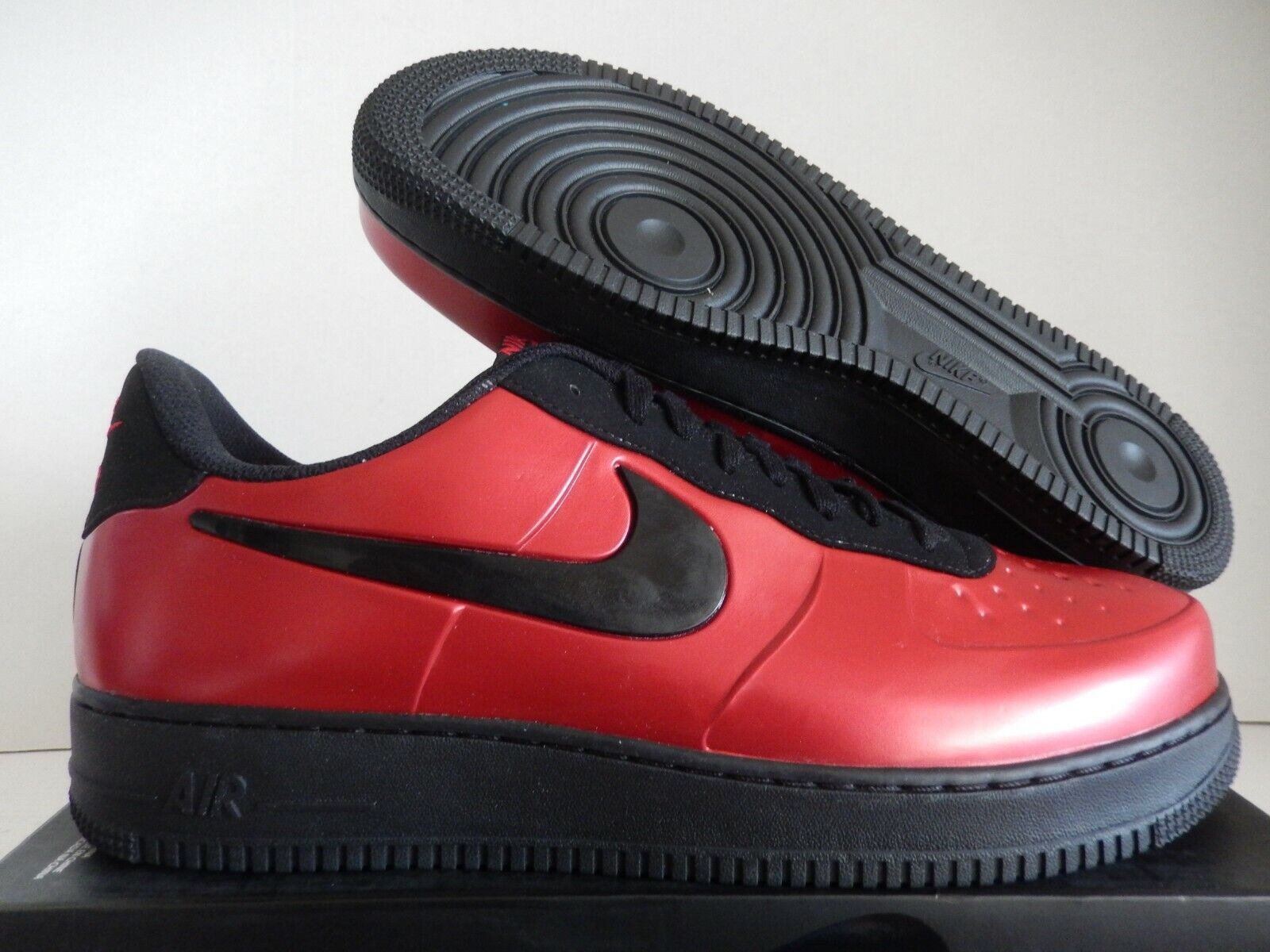 NIKE AF1 AIR FORCE 1 FOAMPOSITE PRO CUP GYM RED-BLACK SZ 14 [AJ3664-601]