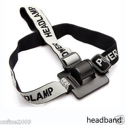 Elastic Headband Helmet Strap Mount Head Strap For LED Bike light Headlamp Band