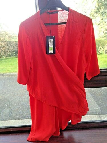 M /& S Size 12 Red Draped Tunic Top BNWT RRP £25 Marks and Spencers
