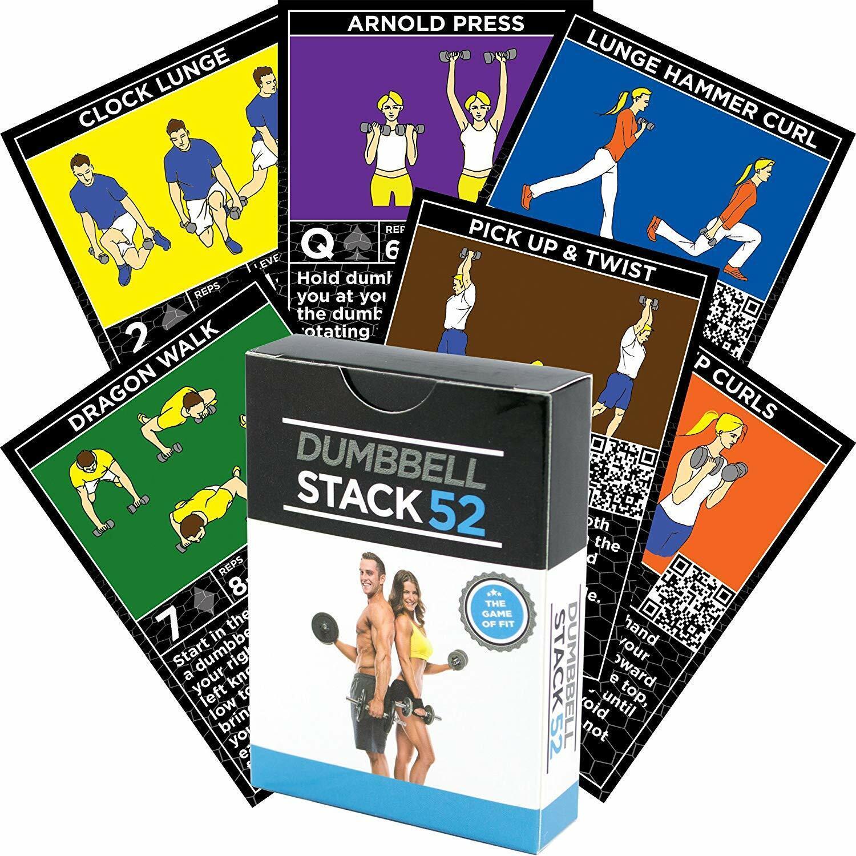 Pile 52 Haltère Duo Exercise Workout jeu de carte réglable Free Poids Ensembles