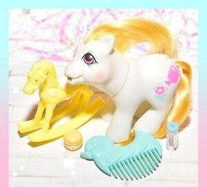 ❤️My Little Pony MLP G1 Vtg Drink 'n Wet Baby Cuddles Rainflower Duck COMB❤️
