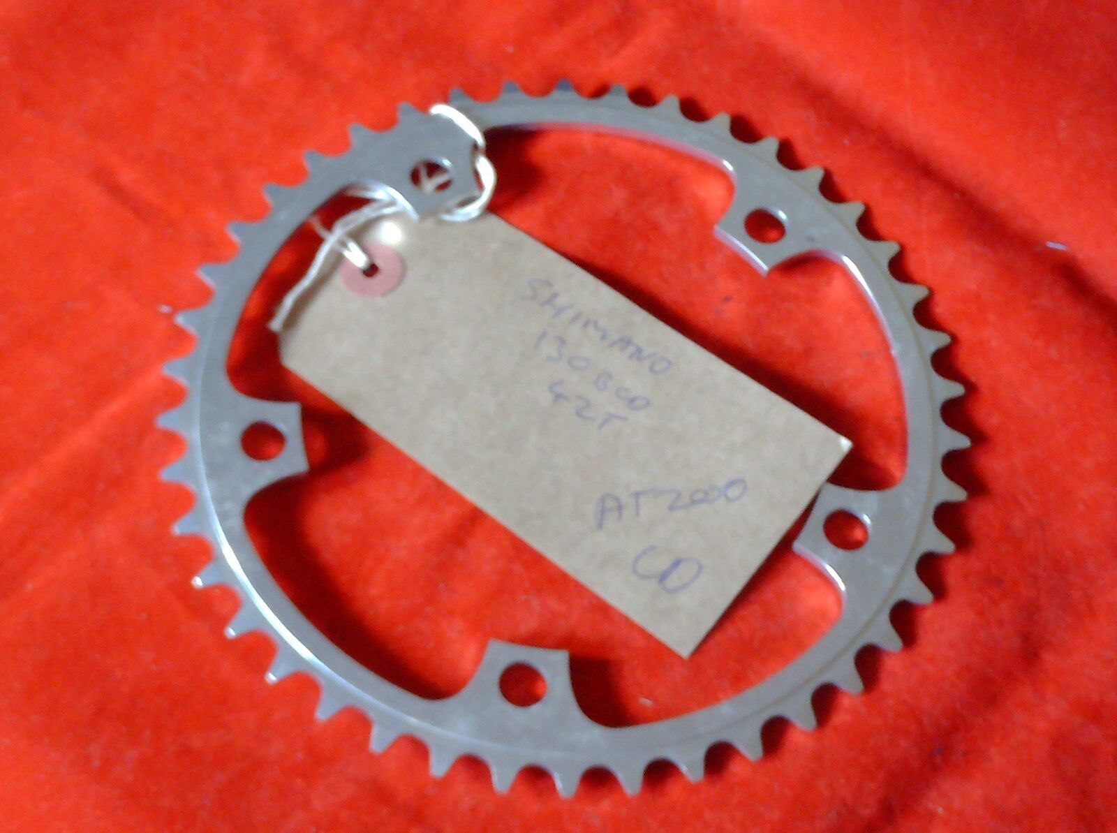 NOS SHIMANO 42 TOOTH 130BCD  CHAINRING 1996  | Viele Stile