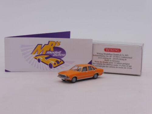 """Wiking 0793 04 # Opel Rekord d Youngtimer año de construcción 1971-1977 en /""""orange/"""" 1:87"""