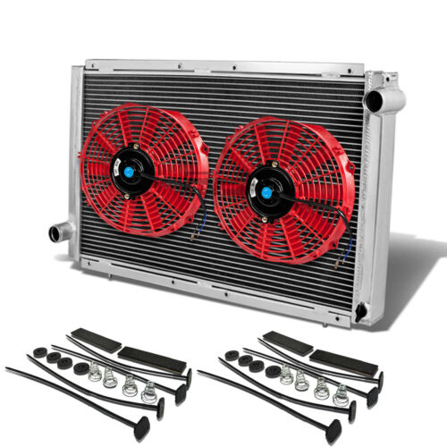 "FOR SUBARU IMPREZA WRX GC//GC8 MT//MANUAL 2 ROW//CORE ALUMINUM RADIATOR+10/""RED FANS"
