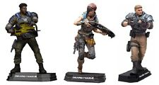 """Gears of War Del Kait & JD Fenix Set of 3 Blue Colour Tops 7"""" Figure McFarlane"""