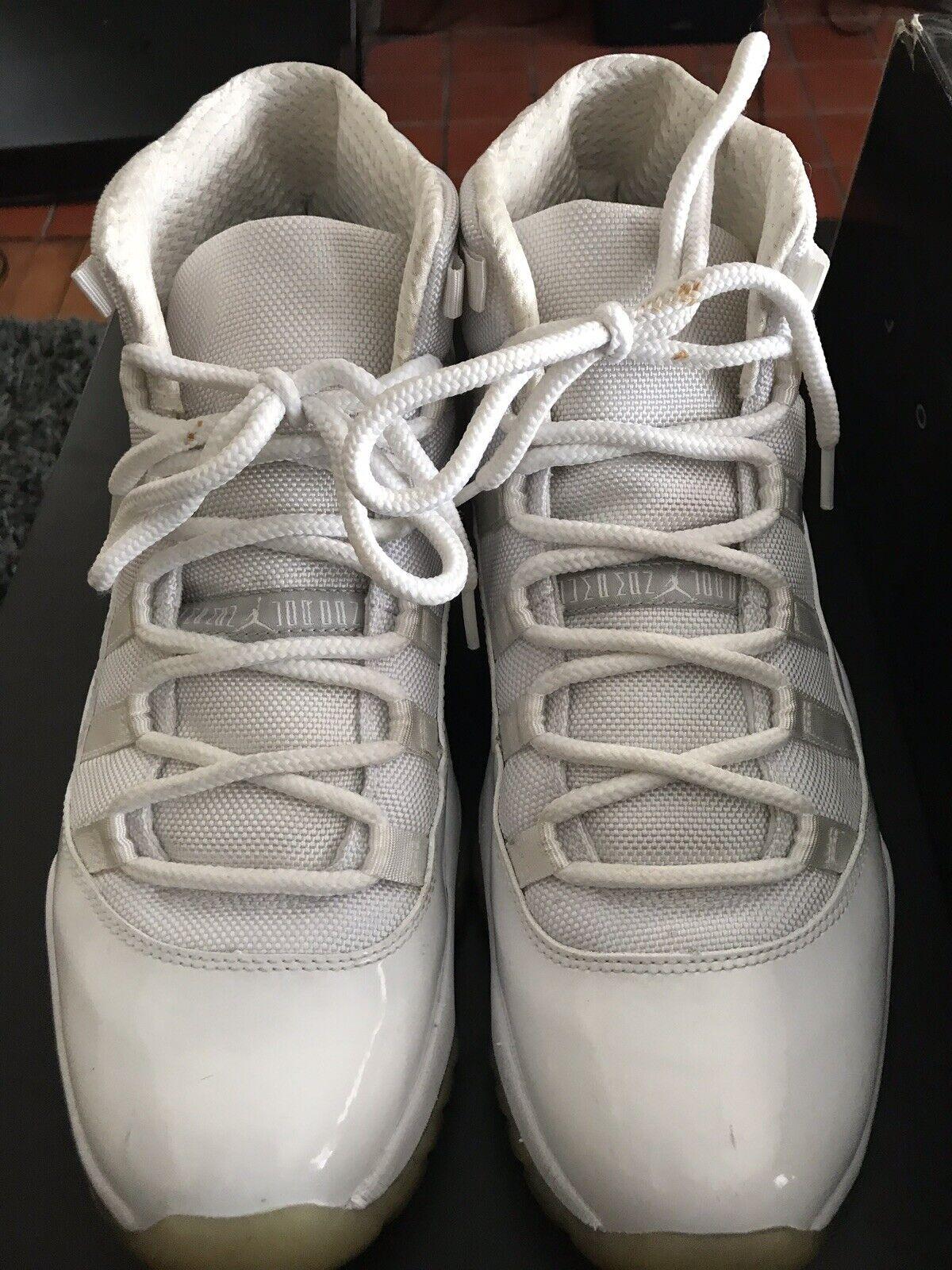 9abe1803c28148 Nike Air Jordan 11 XI Retro Silver Anniversary Anniversary Anniversary Size  12 2010 a5b961