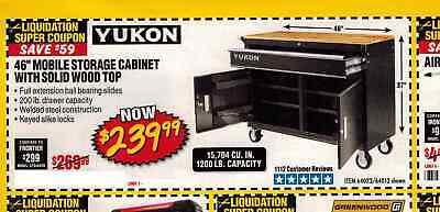 46 In Mobile Storage Cabinet With Wood Top Yukon - Bios Pics