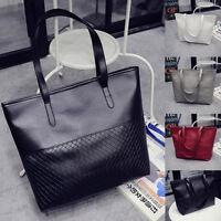 Womens Large Leather Shoulder Bags Handbag Tote Satchel Messenger Bag Purse 2016