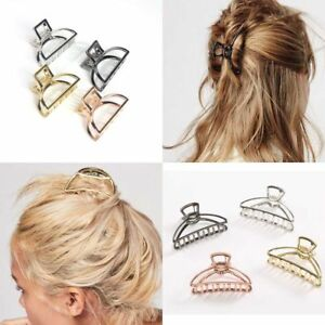 Women-Girls-Hair-Accessories-Metal-Modern-Stylish-L-S-Hair-Claw-Clips-Hairband