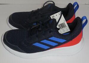 Adidas-Boys-7-Youth-AltaRun-K-Running-Shoes-Black-Blue-New-Sneakers-EG5884
