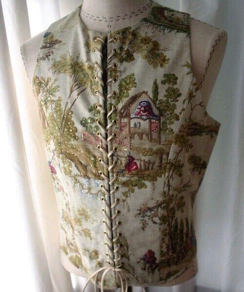 TOULOUS HAUTE COUTURE Corset Laced Vest 42