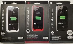 NEW-SEALED-Authentic-Mophie-Juice-Pack-Air-Apple-iPhone-4-4S-RED-BLACK-WHITE