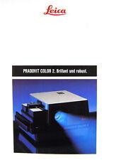 LEICA PRADOVIT COLOR 2. Brillant und robust. Prospekt brochure - (0433)