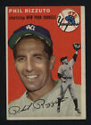 1954 TOPPS ~ #17 ~ PHIL RIZZUTO ~ HALL OF FAME