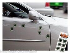 6 FAKE BULLET HOLE CAR STICKERS FUNNY JOKE BOYS MENS PRANK CHRISTMAS PRESENT
