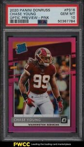 2020 Donruss Optic Preview Pink Chase Young ROOKIE RC #P316 PSA 10 GEM MINT