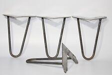 """Forcina gambe set di 4,1940`S, tavolo, scrivania, Panca gambe, 8""""/21 cm, acciaio incompiuto,"""