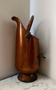 Vintage-Large-Copper-amp-Brass-Umbrella-Holder-Stand-Lion-Heads