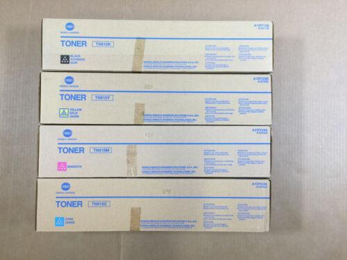 OEM Konica Minolta Bizhub TN615 CMYK Toner Set A1DY130 A1DY230 A1DY330 A1DY430