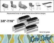 "24 X 3/8""-7/16"" Knoll Harry Bertoia Chair Bench Sled Glides Felt Diamond Bird"
