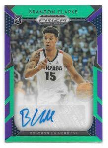 Brandon-Clarke-RC-Auto-d-149-2019-20-Prizm-Draft-Purple-and-Green-Grizzlies