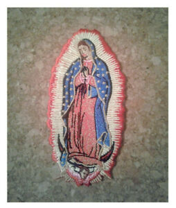 Skull dark Blessed Virgin Mary Guadalupe symbol Embroidered Iron On Sew Patches