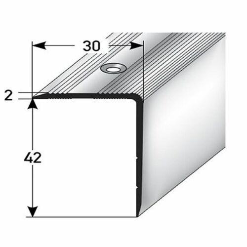 42x30mm Treppenwinkel 135cm lang silber gebohrt