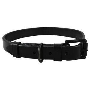 Audenham Noir Collier De Chien En Acier Bride Et Acier Inoxydable Noir   English Bridle Leather & Stainless Dog Collar
