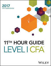 Wiley-Wiley 11Th Hour Guide For 2017 Level I Cfa Exam  BOOK NEW