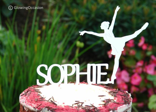 Astounding Personalised Name Birthday Cake Topper With Ballerina For Sale Personalised Birthday Cards Paralily Jamesorg