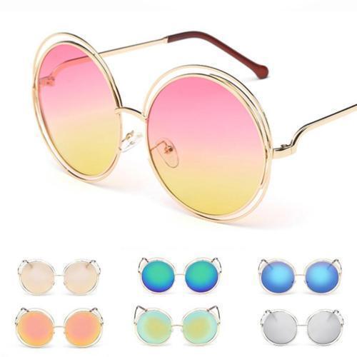 0f734fdf051 Oversized Round Sunglasses Women Fashion Large Size Big Retro Mirror Sun Glasses  Sunglasses   Sunglasses Accessories Women s Accessories