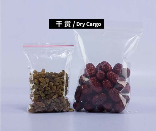 Klare PE-Druckverschlussbeutel Kunststoff wiederverschließbare Lebensmittelecht